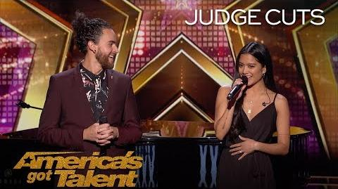 Us The Duo Married Couple Reveals Pregnancy Announcement On Stage - America's Got Talent 2018