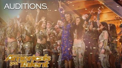 Zurcaroh Golden Buzzer Worthy Aerial Dance Group Impresses Tyra Banks - America's Got Talent 2018
