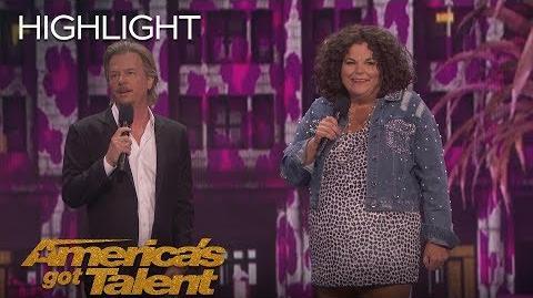 David Spade Decodes Hollywood Lingo To Vicki Barbolak - America's Got Talent 2018