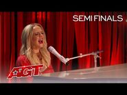"""Madilyn Bailey Performs an Emotional Original, """"Red Ribbon"""" - America's Got Talent 2021"""