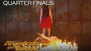 The Sacred Riana Magician Scales Wall, Summons Terrifying Look-alikes - America's Got Talent 2018-0