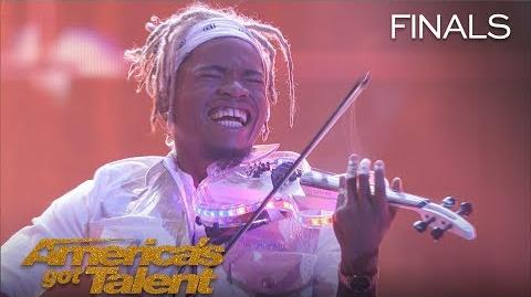 """Brian King Joseph Violinist Shatters Expectations With """"Heartless"""" - America's Got Talent 2018"""