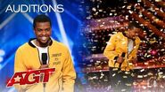 Golden Buzzer Brandon Leake Makes AGT History With Powerful Poetry - America's Got Talent 2020
