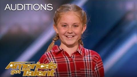 Lily Wilker 11-Year-Old Animal Impressionist Delights The Judges - America's Got Talent 2018