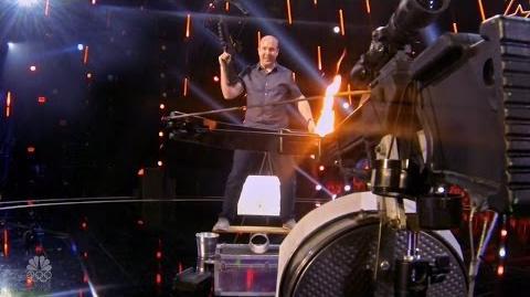 America's Got Talent 2016 Ian Stewart Crossbow Daredevil Full Judge Cuts Clips S11E10