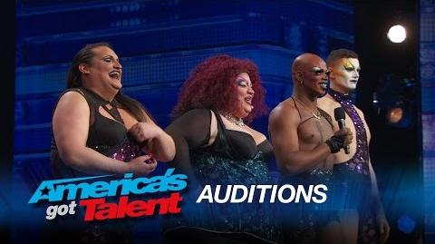 Caravan of Glam Drag Dancers Strut Their Stuff On Stage - America's Got Talent 2015