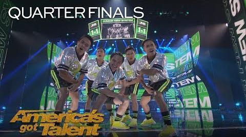 Junior New System Men In High Heels Deliver High Energy Dance - America's Got Talent 2018