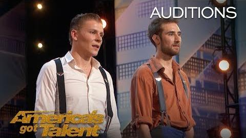 Jules & Jerome Duo Flies Dangerously High Above Stage - America's Got Talent 2018