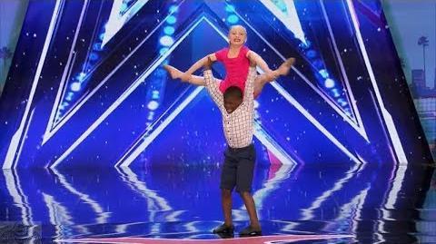America's Got Talent 2017 Artyon & Paige Child Dance Duo Full Audition S12E02