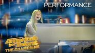 WOW! Connie Talbot Stuns Simon Cowell With Original Song - America's Got Talent The Champions