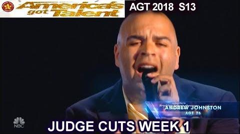 "Andrew Johnston sings ""Imagine"" America's Got Talent 2018 Judge Cuts 1 AGT"
