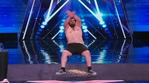 America's Got Talent 2015 S10E03 Leroy Patterson The Human Tackboard