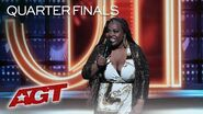 Comedian Jackie Fabulous Delivers FUNNY And Relatable Jokes About Dating - America's Got Talent 2019