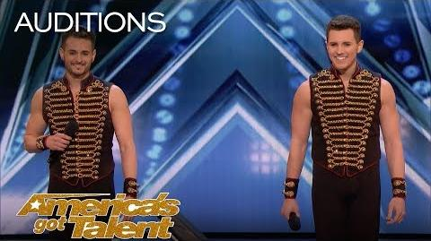 Fratelli Rossi Brother Duo Performs Icarian Games After Injury - America's Got Talent 2018