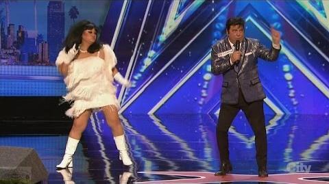 America's Got Talent 2016 Charles & Rose Horrible but Hilarious Vegas Show Full Clip S11E01