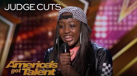 Flau'jae 14-Year-Old Rapper Earns Golden Buzzer From Chris Hardwick - America's Got Talent 2018