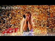 Golden Buzzer- Léa Kyle Performs Stunning Quick-Change Act - America's Got Talent 2021