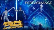 OMG! Sandou Trio Russian Bar Flies High With A BLINDFOLD?! - America's Got Talent The Champions