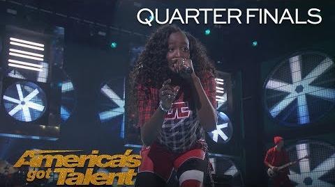 "Flau'jae Teenage Rapper Performs Original Anthem ""Let Downs"" - America's Got Talent 2018"