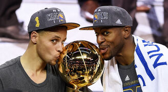 Stephen Curry and Andre Iguodala 2015 NBA Champions.jpg