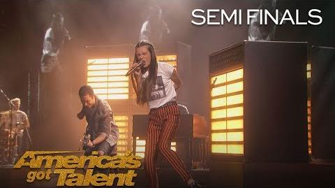 "Courtney Hadwin Shy Teen Shocks Audience With ""Born To Be Wild"" - America's Got Talent 2018"