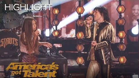 Courtney Hadwin And The Struts Rock The Stage With A Janis Joplin Hit - America's Got Talent 2018