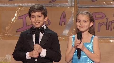 America's Got Talent 2016 Kaden Bart & Brooklyn Rockett 10 YO Magician Full Audition Clip S11E05