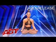 Early Release- Danila Bim Excites The Judges With Hair Suspension Aerial - America's Got Talent 2021