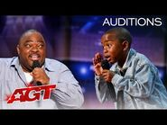 Hilarious Kid Comedian Competes Against His Dad on AGT! - America's Got Talent 2021