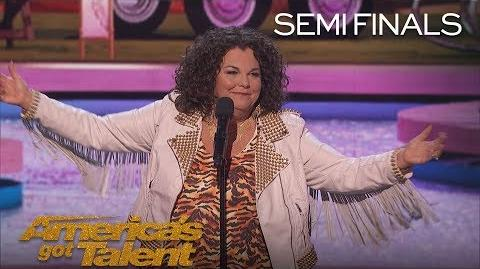 Vicki Barbolak Comedian Delivers Tips On How To Pick Up Men - America's Got Talent 2018