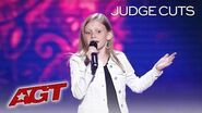 12-Year-Old Singer Ansley Burns Is Stopped By Simon Cowell AGAIN?! - America's Got Talent 2019