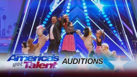 Pompeyo Family Dogs Animal Act Entertains With Their AGT Audition - America's Got Talent 2017