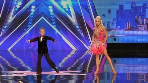 America's Got Talent 2016 Alla & Daniel Novikov Mother Son Dance Duo Full Audition S11E02