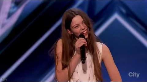 Courtney Hadwin 13 Year Old Singer Intro America's Got Talent 2018 Auditions