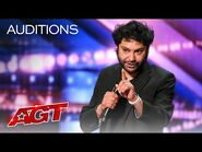 Kabir Singh Delivers Hilarious Stand-Up Comedy - America's Got Talent 2021