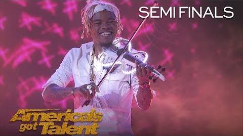 Brian King Joseph Electric Violinist Takes Performance To New Heights - America's Got Talent 2018