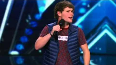 America's Got Talent 2015 Drew Lynch Howies Golden Buzzer Auditions 1