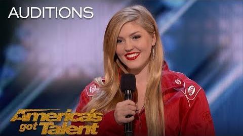 Annaliese Nock Daredevil Daughter Takes On Dynamite Performance - America's Got Talent 2018