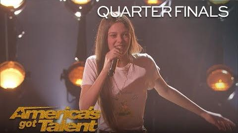"Courtney Hadwin Teen Powerhouse Sings ""Papa's Got A Brand New Bag"" - America's Got Talent 2018"