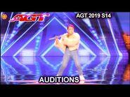 RiRia Flautist Gets No's - America's Got Talent 2019 Audition