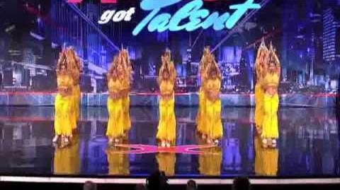 America's Got Talent 2013 Audition - Mitsi School of Dance Captivating Chinese Folk Dancing