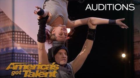 Sergey & Sasha Korolev Acrobatic Duo Scare With Dangerous Performance - America's Got Talent 2018
