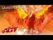 Sethward Rises From The Ashes in a Fiery Performance - America's Got Talent 2021