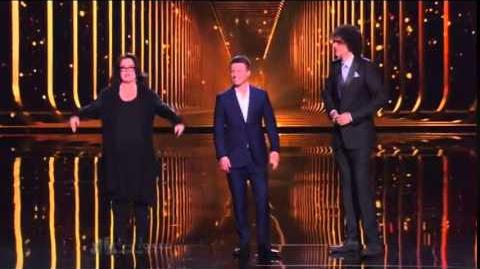 America's Got Talent 2014 Mat Franco & Rosie O'Donnell With Judge Howard Stern Grand Final