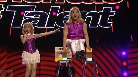 America's Got Talent 2016 Cecile & Mighty Singing & Magic Don't Mix Full Judge Cuts Clip S11E09