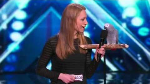 America's Got Talent 2015 Einstein the Talking Parrot Auditions 5