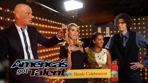 Snapple Finale Celebration Howie Mandel Toasts to a Great Season - America's Got Talent 2014 Finale
