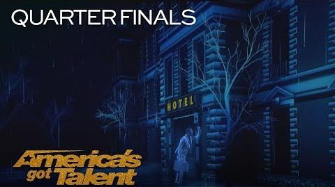 Front Pictures Epic Projection Act Shocks Audience With Innovative Tech - America's Got Talent 2018