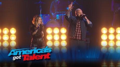"""Benton Blount Singer Performs """"Fight Song"""" with Rachel Platten - America's Got Talent 2015 Finale"""
