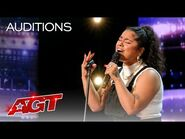 """Brooke Simpson Sings a STUNNING Rendition of """"Cuz I Love You"""" by Lizzo - America's Got Talent 2021"""